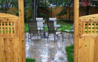 Clôture Avantage et Lévisienne, clôtures à Québec pergola en cèdre blanc