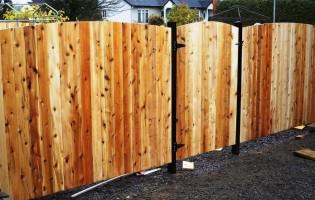Clôture Avantage et Lévisienne, clôtures à Québec Clôture de cèdre blanc palissade bombé