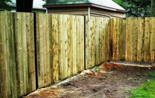 Clôture Avantage et Lévisienne, clôtures à Québec Clôture de bois traité Palissade droite