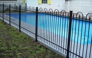 Clôture Avantage et Lévisienne, clôtures à Québec Clôture de piscine creusée Classic 1