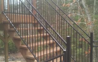 Clôture Avantage et Lévisienne, clôtures à Québec Rampe escalier