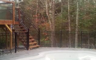 Clôture Avantage et Lévisienne, clôtures à Québec Fer forgé contemporain