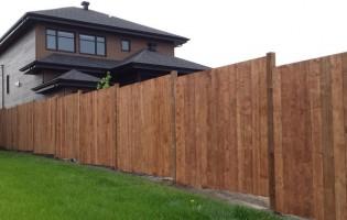 Clôture Avantage et Lévisienne, clôtures à Québec Palissade droite en bois terra