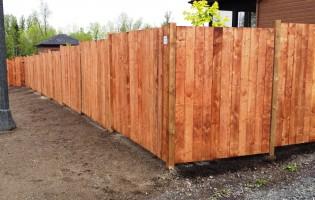 Clôture Avantage et Lévisienne, clôtures à Québec bois traité brun