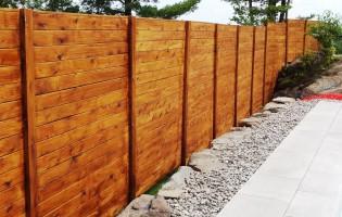 Clôture Avantage et Lévisienne, clôtures à Québec Cèdre blanc embouveté horizontale