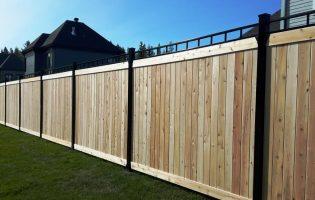 Clôture Avantage et Lévisienne, clôtures à Québec Tête contemporaine sur du cèdre