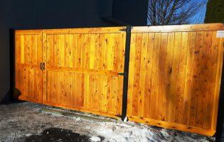 Clôture Avantage et Lévisienne, clôtures à Québec porte double 9'