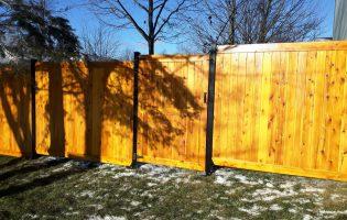 Clôture Avantage et Lévisienne, clôtures à Québec porte simple