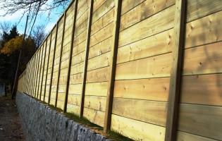 Clôture Avantage et Lévisienne, clôtures à Québec Bois traité horizontale avec planches 5/4
