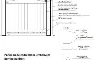 Clôture Avantage et Lévisienne, clôtures à Québec embouveté dessin technique
