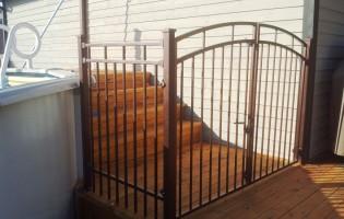 Clôture Avantage et Lévisienne, clôtures à Québec Contemporaine porte bombée