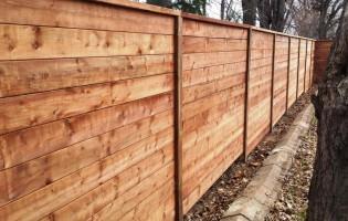 Clôture Avantage et Lévisienne, clôtures à Québec Bois traité brun terra horizontale