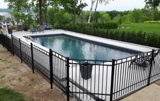 Clôture Avantage et Lévisienne, clôtures à Québec Clôture de piscine creusée