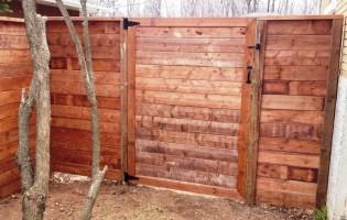 Clôture Avantage et Lévisienne, clôtures à Québec porte bois terra