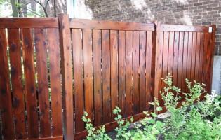 Clôture Avantage et Lévisienne, clôtures à Québec Projet de clôture sur mesure en cèdre blanc teint