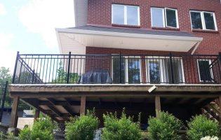 Clôture Avantage et Lévisienne, clôtures à Québec Rampe de balcon