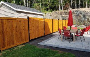 Clôture Avantage et Lévisienne, clôtures à Québec clôture de cedre blanc