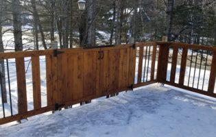 Clôture Avantage et Lévisienne, clôtures à Québec Rampe de patio