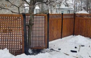 Clôture Avantage et Lévisienne, clôtures à Québec Commande spéciale treillis
