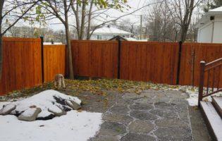 Clôture Avantage et Lévisienne, clôtures à Québec Clôture de cèdre teinture 009