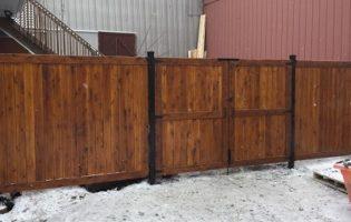 Clôture Avantage et Lévisienne, clôtures à Québec Porte double